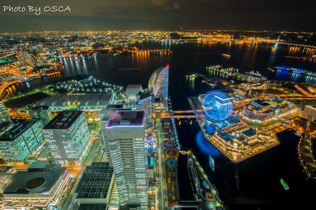 横浜ランドマークタワースカイガーデンから見た夜景