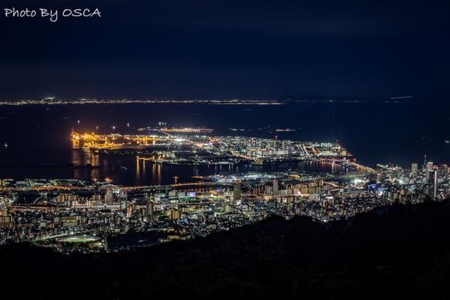 摩耶山 掬星台 から眺める神戸の夜景