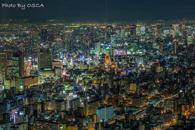 あべのハルカスから見た夜景 (大阪)