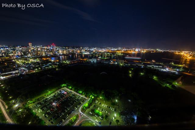 千葉ポートタワーから観る夜景
