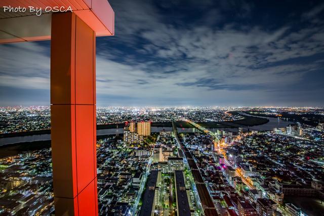 アイ・リンクタウン展望施設から眺めた夜景