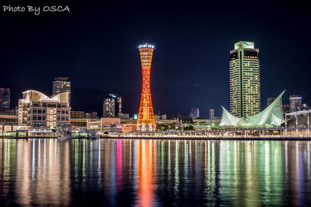 神戸ハーバーランド umie mosaic から眺める夜景