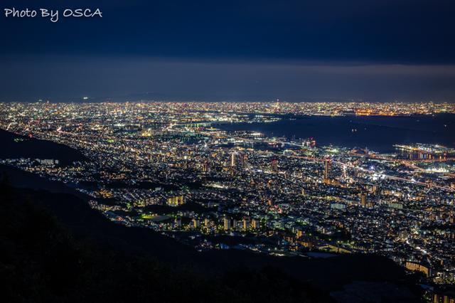 摩耶山 掬星台 から眺める絶景の夜景
