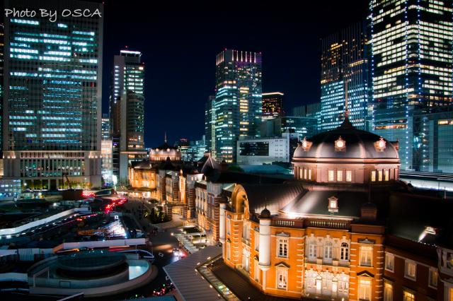KITTEガーデンから観る東京駅の夜景